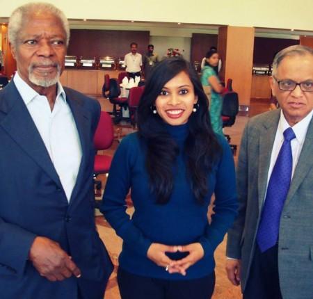 With Kofi Annan & Narayana Murthy
