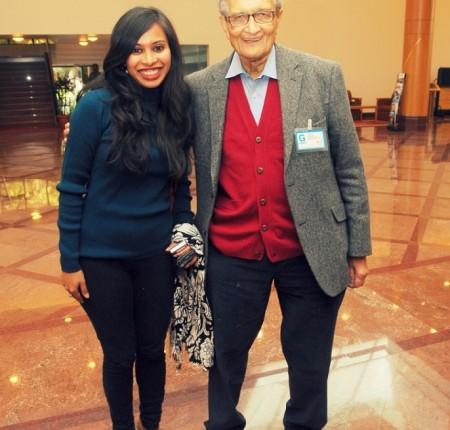 With Amartya Sen