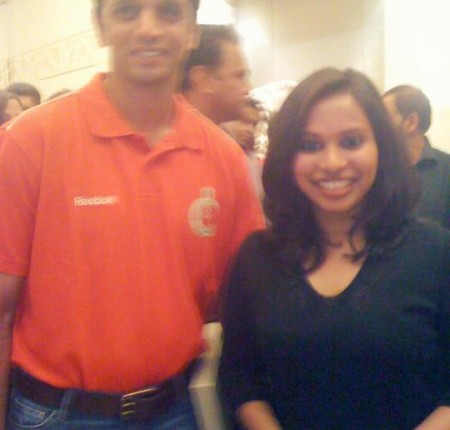 With Rahul Dravid